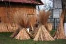 Drying bundles of stripped willow